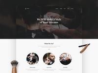 Barber Landing Page