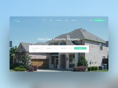 Real Estate Firm land home clean concept header website architecture architect real estate estate real