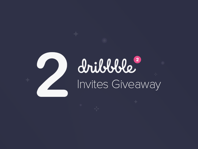 2 Dribbble Invites Giveaway ux ui dribbble invite invitation draft portfolio give away giveaway invite dribbble