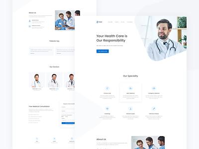 Medical Landing Page sketchapp consultation health ux dailyui ui health care landing page doctor medical