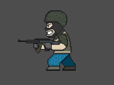 Pixelterrorist pixelart visual design digital soldier terrorist boardgame battlefield 3