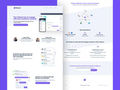 Fairwai Home Page nocode visual development web design ui desgin webflow