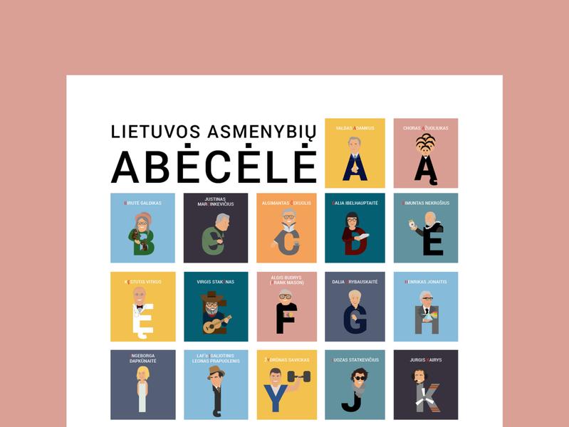 Asmenybių ABC illustration