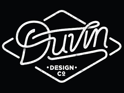 Duvin - WIP handletter handlettering logo branding surf type salt lake drawing black and white
