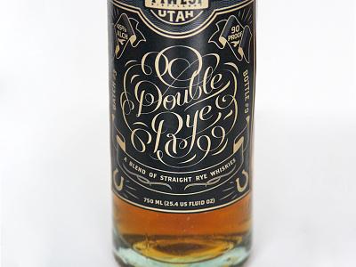 High West Rebrand 1 whiskey handlettering type typography vintage western alcohol bottle label design branding