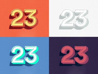 Colorways vector 3d type numbers 23