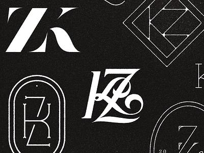 KZ Monogram type typography handlettering monogram