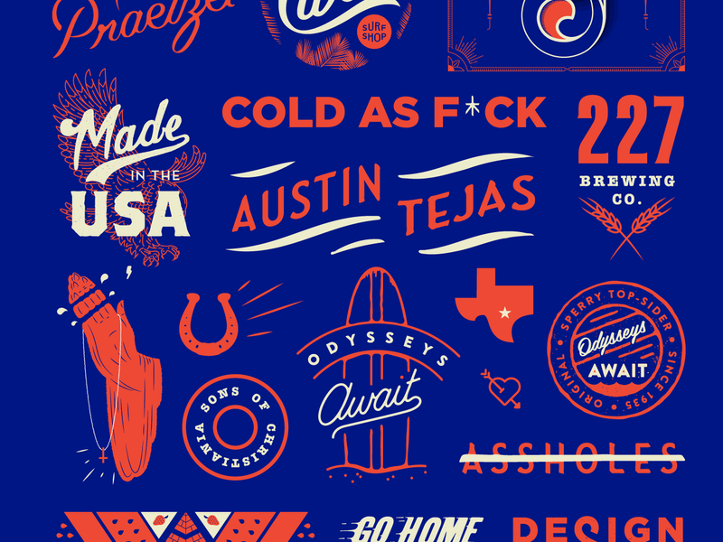 New Site typography illustration collage website portfolio