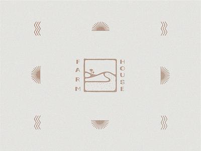 Farmhouse Identity restaurant design texture typography vintage logo branding illustration