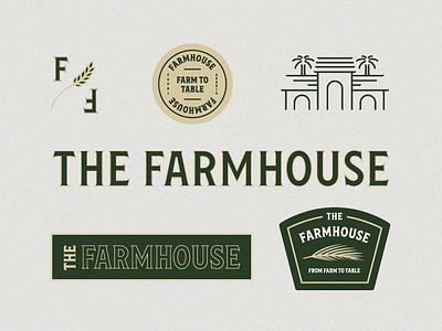 Farmhouse Identity II restaurant texture typography vintage logo branding illustration type