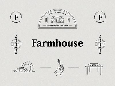 Farmhouse Identity III texture typography vintage logo branding illustration type
