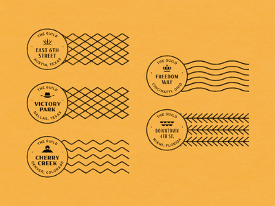 The Guild Hotels — Part 2 graphic stampong stamp texture lockup design icons iconography branding