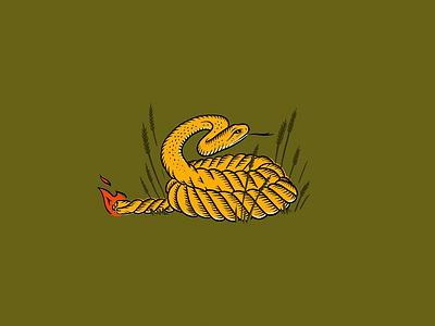 Snake Rope fuse flame snake illustration procreate
