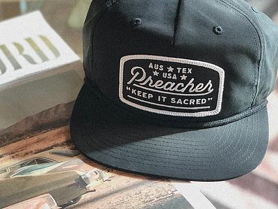 Preacher Hat II type texas austin script handlettering preacher patch hat