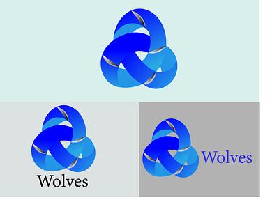 Wolves abstract logo ui icon illustration graphic design golden ratio design golden branding app logo
