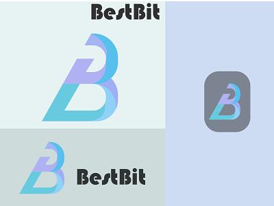 B abstract letter logo ui logo illustration icon graphic design golden ratio golden branding app design