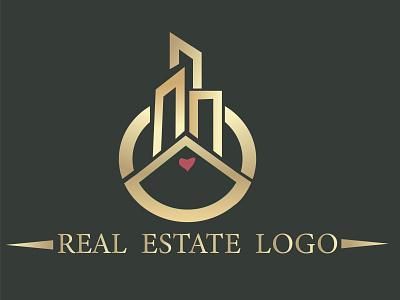 Real estate logo design vector ui logo illustration icon graphic design golden ratio golden design branding real estate logo design