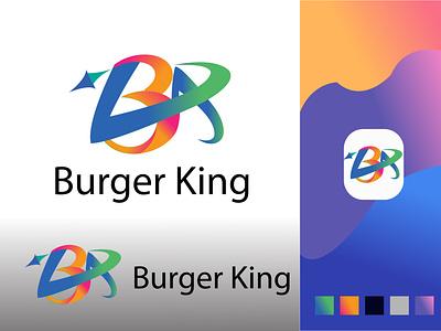 BK Abstract letter logo vector illustration icon golden ratio golden design 3d ui branding graphic design logo