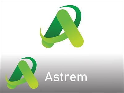A Abstract letter logo abstract letter logo vector ui illustration icon graphic design golden ratio golden design branding logo