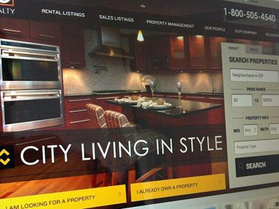 Real Estate Homepage UI