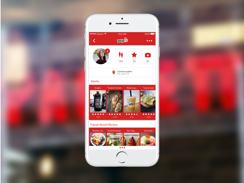 Yelp Redesign by Mondo on Dribbble