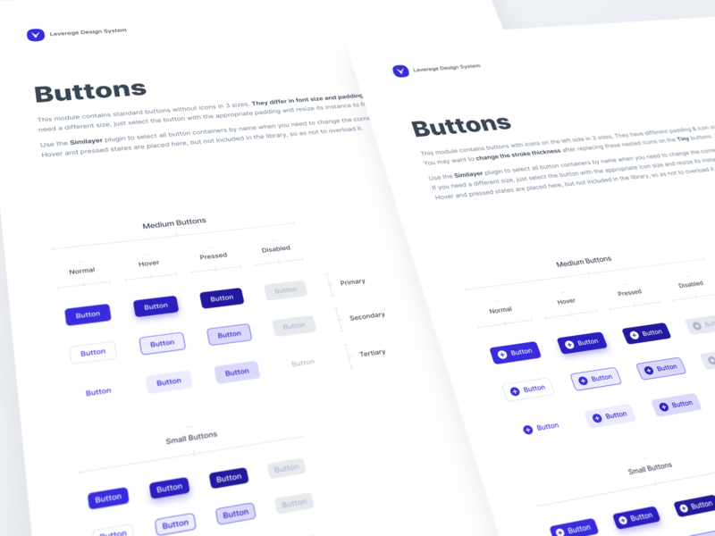 Leverege Design System: Buttons iot buttons kit system design ux ui