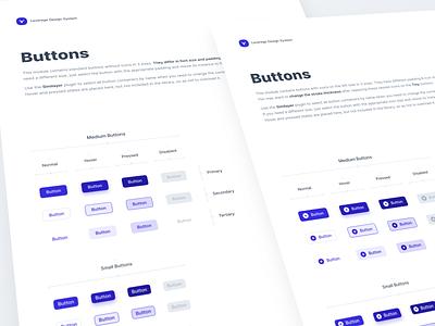 Leverege Design System: Buttons iot buttons kit system design ux ui