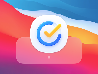 TickTick Meets Big Sur app icon habit tracker time calendar pomodoro kanban task manager manager task todolist todo macos ios replacement icon replacement big sur bigsur icon app
