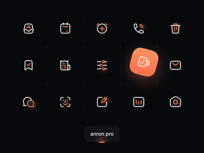 Anron Icons: Duocolor Style app iconset iconpack iconography icondesign figma icons duotone duocolor linear set pack icon ui