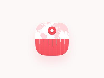 Time Zone App Icon converter zone map minimalist light clock time logo icon app app-icon