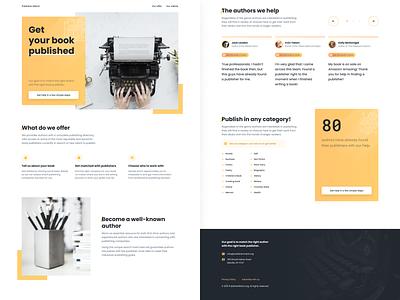 Publisher Match — Landing Page figma writers authors books web survey banner agency website landing page desktop minimalist clean light