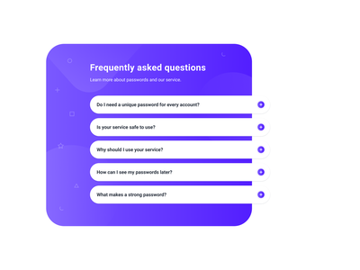 Smarter Accordion figma principle minimalist clean web answers questions list accordion microinteractions microanimations desktop animation ui faq