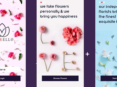 FIORELLO - Love component product design product hero ux ui flowershop ios ecommerce flowers illustration flowers fiorello