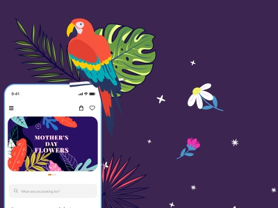 FIORELLO - Mother's day appdesign app ios fiorello flowers tropical organic component product design product ecommerce ux ui