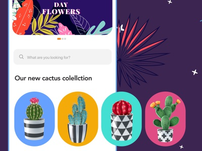 FIORELLO - Category style fiorello product designs ios component flowers category component product design product hero ux ecommerce ui