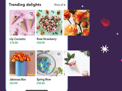 FIORELLO - Trending product listing ios flowers organic cms product design product hero ecommerce ux ui