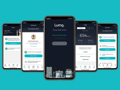 OVO - LUMO - Energy Made Simple. ovo productdesign usage onboarding cards dashboard energy app energy ux ui