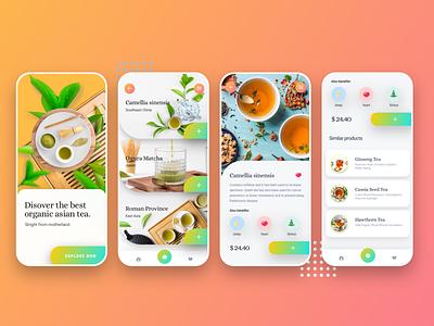 Tea Tree design asian product component organic flowers ios product design ecommerce ux ui