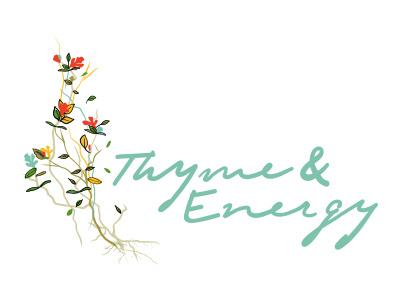 Thyme & Energy Logo / Brand Identity illustration logo custom identity brand