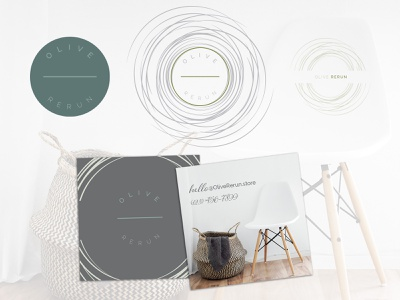Pre-made Logo: Olive Rerun branding identity busines card design logo brand