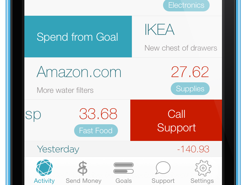 Simple simple ios ios 7 ui finance money mockup