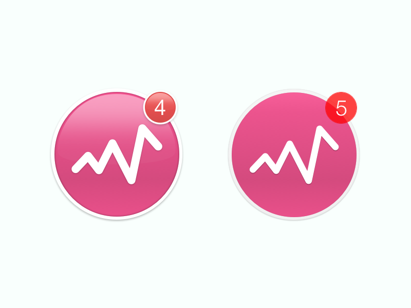 From 4 to 5 dribbble 5 five yosemite mac os x icon notification