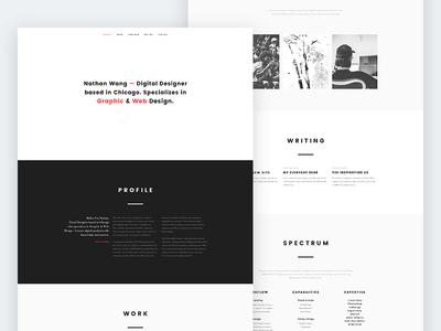 Portfolio Redesign minimal website personal development ux design ui portfolio