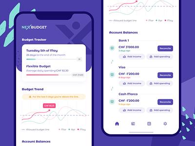 Budget App accounts spending income budget app balance bank transfer money tracker budget