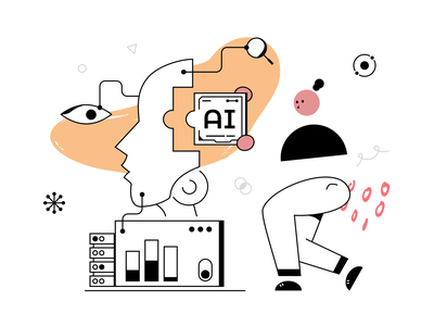 AI/Machine Learning Engineer development software learning networks machine data science statics abstract illustration chip brain robot ai machine learning engineer artificial intelligence
