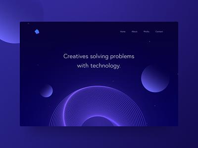 Design #2 design creative lines illustration website ui dark minimal gradient header ideas futuristic