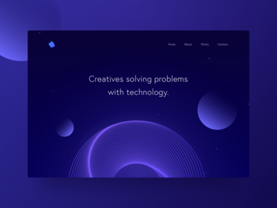Design #2 design creative lines illustration website ui dark minimal gradient header ideas futuristic