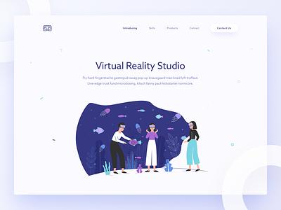 VR Studio ui flat illustration studio reality virtual vr