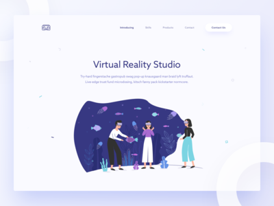 VR Studio ui flat illustration studio reality virtual vr