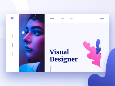 Visual Designer abstract shapes visual ui modern gradient minimal flat designer portfolio